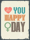Women day with vintage  background