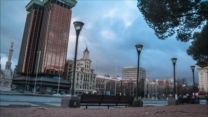 Timelapse - Plaza Colón - Madrid