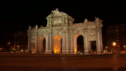 Timelapse - Puerta de Alcalá - Madrid