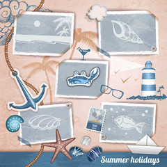 Summer scrapbooking photo album