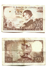 One hundred pesetas Becquer