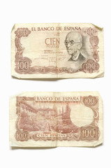 One hundred pesetas Falla