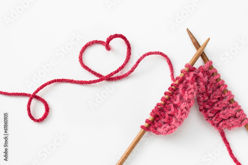 Leinwandbild Motiv Knitting