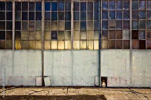 Fotobehang Industrial geb. Industrial garage doors with windows
