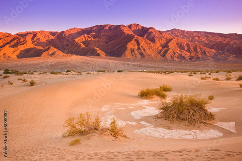 canvas print picture Mesquite dunes, Death Valley California