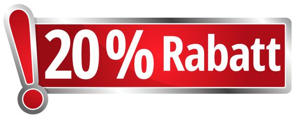 20 % Rabatt