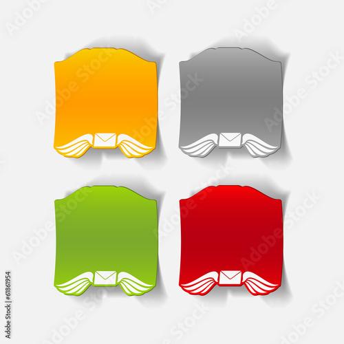 realistic design element: wing, envelope