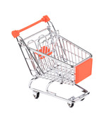 Shopping supermarket cart.
