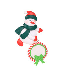 Christmas decoration plastic snowman.