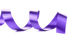 Violet curly silk ribbon.