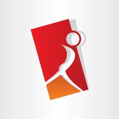 girl dancing symbol design