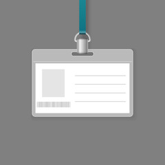 Blank ID badge vector template
