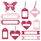 Cute label tags set.