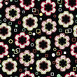 Abstract Flowers Endless Seamless Pattern