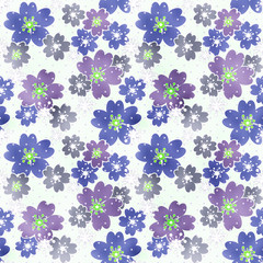 Seamless floral pattern texture on light background