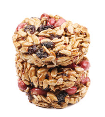 Stack of candied peanuts sunflower seeds.