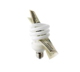 Compact fluorescent bulb.