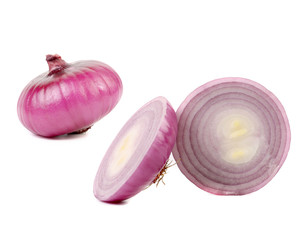Red onion and two slices