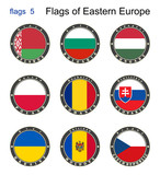 Flags of Eastern Europe. Flags 5. poster