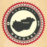 Vintage label-sticker cards of Hungary.