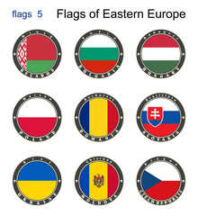 Flags of Eastern Europe. Flags 5.