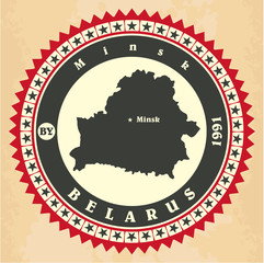 Vintage label-sticker cards of Belarus.