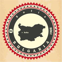 Vintage label-sticker cards of Bulgaria.