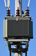 canvas print picture - high voltage transformer