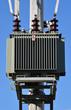 canvas print picture - high voltage transformer