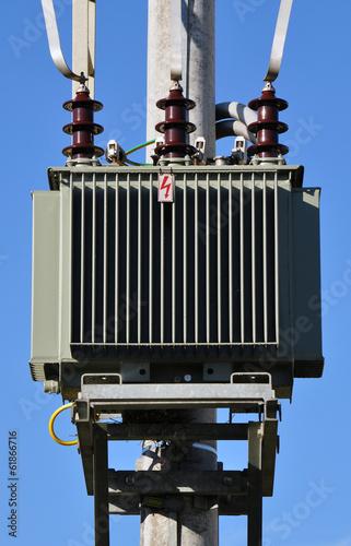 canvas print picture high voltage transformer