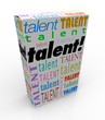 Talent Word Product Box Sell Your Skills Marketing
