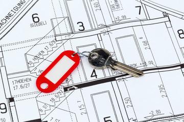 Hausplan mit Schlüssel