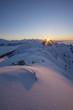 canvas print picture - Sonnenuntergang im Winter