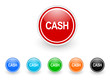 cash icon vector set