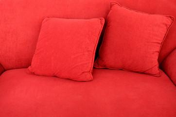 Soft sofa close up shot