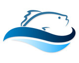Fototapety symbol of fish in the waves for a vector
