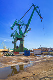 Cranes of shipyard in Gdansk, Poland