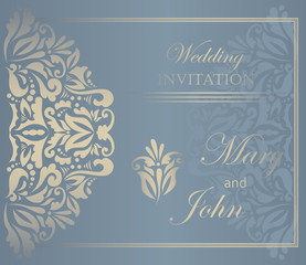 Wedding invitation. Lace pattern