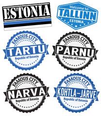 Estonia cities stamps