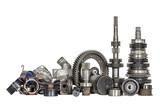 Set of various car parts