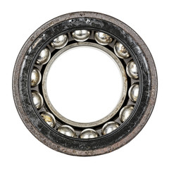 Dismantled old and very worn ball bearing