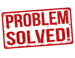 Problem solved stamp