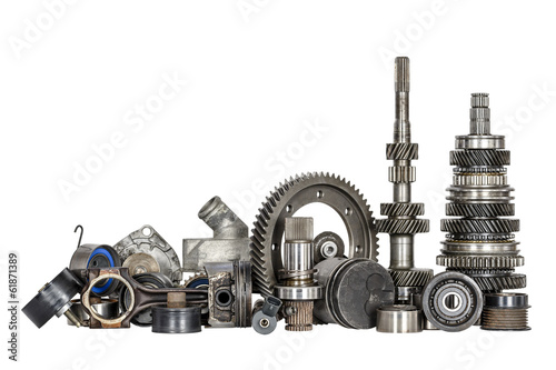 Set of various car parts