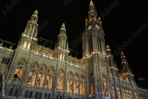 Vienna City Hall at night