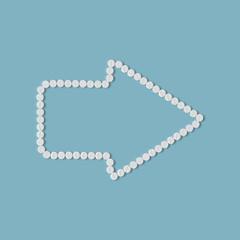 pills concept: arrow, geometry