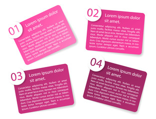 vector pink angular paper option labels