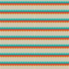 Seamless Striped Knitting Pattern. Vector illustration.