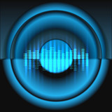 Equalizer wit speaker vector background