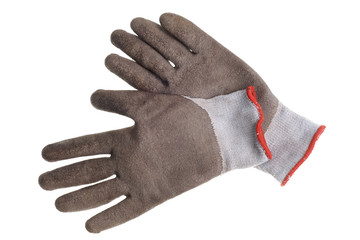 Work gloves isolated on a white