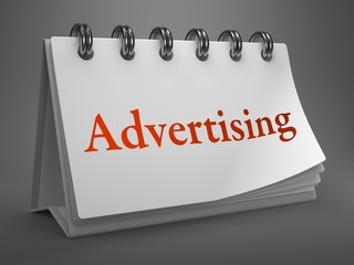 Advertising Concept on Desktop Calendar.